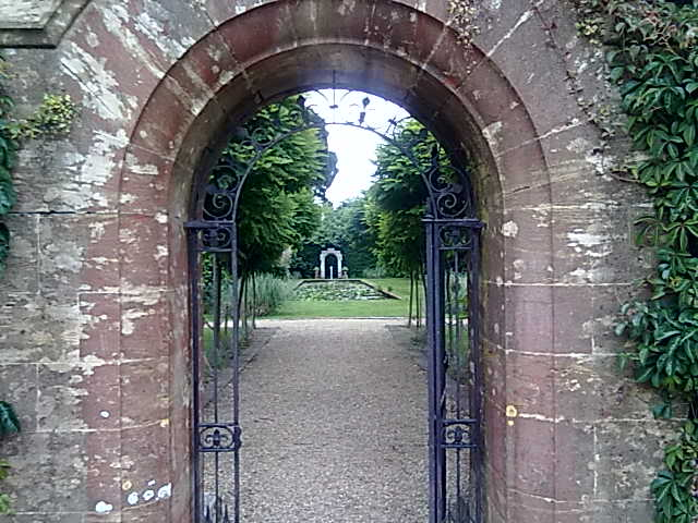 Gateway to a landscaped garden